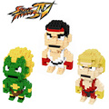 Blanka Action Figures Street Fighter Game Characters Model Toys Ryu Ken Gift For Children Mini 3D DIY Blocks