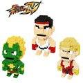 Blanka Figuras de Ação Brinquedos Modelo de Personagens Do Jogo Street Fighter Ryu Ken Presente Para Crianças Mini 3D DIY Blocos