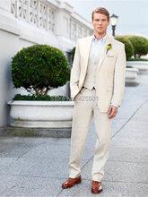 Custom Center Vent Groom Tuxedos Notch Lapel Best man Suit Groomsman/Bridegroom Wedding/Prom Suits (Jacket+Pants+Tie+vest)
