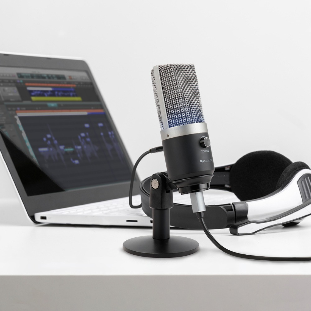 Image 2 - FIFINE USB condenser microphone for computer professional recording MIC for Youtube Skype meeting game one line teaching 670 1-in Microphones from Consumer Electronics