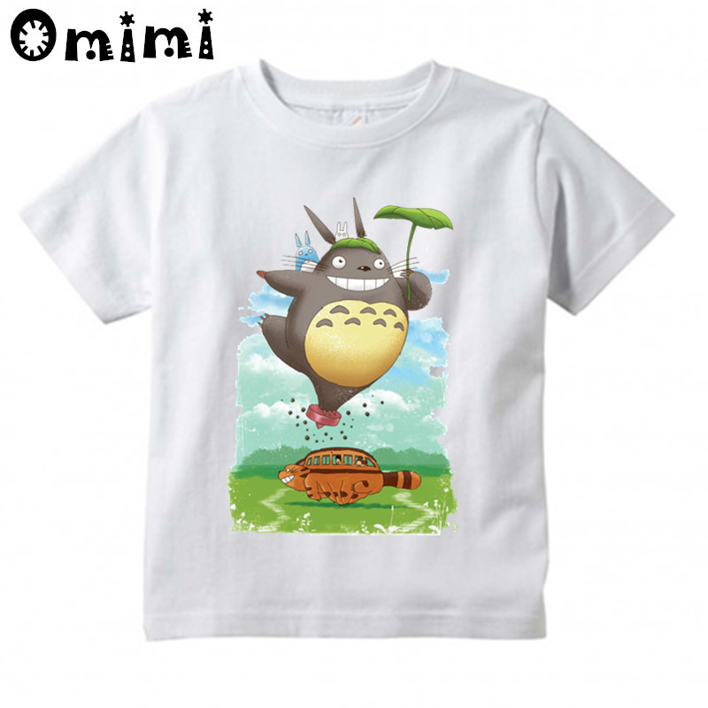 Children's Anime My Neighbor Totoro Printed T Shirt Kids Great Casual Short Sleeve Tops Boys and Girls Cute T-Shirt cute scoop neck short sleeve zebra printed t shirt for women