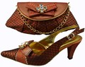2017 Italian Shoes With Matching Bags For Party High Quality African Shoes And Bags Set For Wedding Women Pumps 1308-21