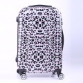 "New Women Fashion Leopard Trolley Luggage,Girls Hard Shell Luggage, Universal Wheels Trolley Luggage Bag Boarding Case 20"" 24"""