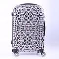 """New Women Fashion Leopard Trolley Luggage,Girls Hard Shell Luggage, Universal Wheels Trolley Luggage Bag Boarding Case 20"""" 24"""""""
