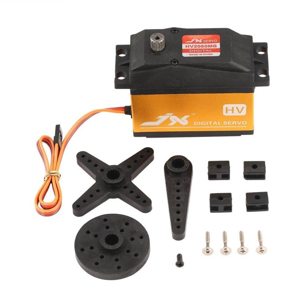 все цены на JX PDI-HV2060MG 6-7.4V Metal Digital HV Servo 62kg Coreless for 1/5 Car RC Accessories онлайн