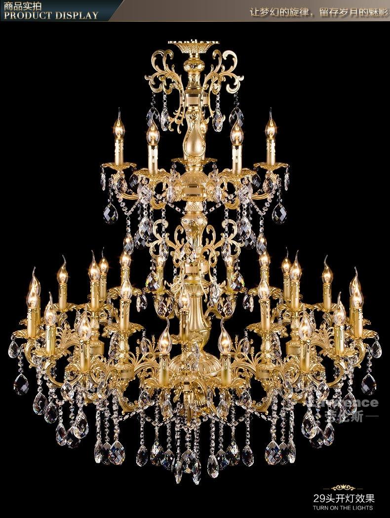projekts antīkās 29 galvas zelta led lustra kristāla droplight - Iekštelpu apgaismojums - Foto 2