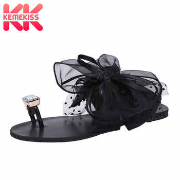KemeKiss Ladies Flats Sandals Bowtie Flip Flop Slipper Flat Sandal Summer Shoe Women Party Beach Vacation Footwear Size 35-42 - DISCOUNT ITEM  49% OFF All Category