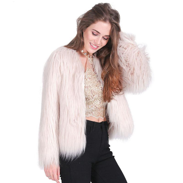 Aliexpress.com : Buy 2016 Fashion Man Made Fur Coat White Pink ...