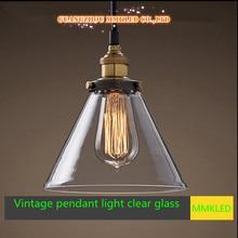 Новый минималистский прозрачное стекло тень люстра лампа E27 ресторан бар висит свет кафе вход кухня AC110-240V