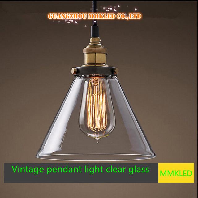 Nova minimalista restaurante bar lustre de vidro claro sombra E27 AC110-240V suspensão sala cozinha hall