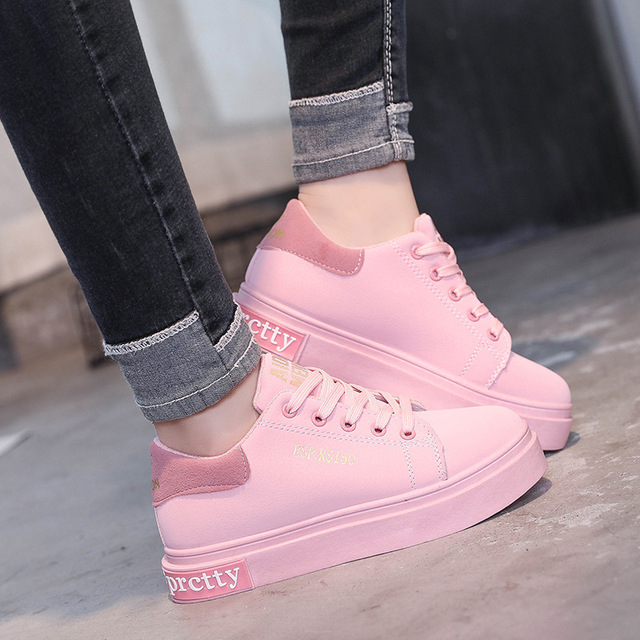 2018 fashion Spring New Designer Wedges Pink Platform Sneakers Women  Vulcanize Shoes Tenis Feminino Casual Female Shoes Woman b15b0cf1aee2