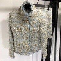 Уникальные ткани Женская куртка и юбка комплект из 2 предметов Большие размеры Блейзер удивительные roupas feminina 5XL 6XL Элегантные зимние офисные