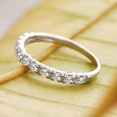 Geld Verliezen Promotie Romantische Altijd Liefde Glanzend Zirkoon 925 Sterling Zilveren Ladies'finger Ringen Voor Vrouwen Sieraden Huwelijkscadeau