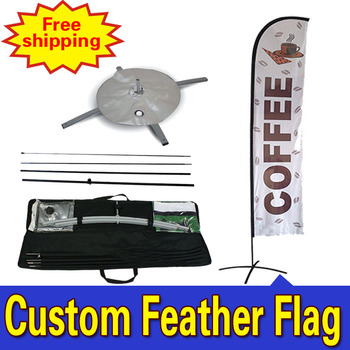 80cm*410cm FREE SHIPPING Custom DOUBLE-Sided Promotion Feather Flags, Feather Banner, Outdoor Flags