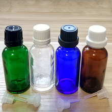 30ml Amber/Blue/Green/Clear Glass bottles with Tamper Evident Caps and Orifice Reducer .if you order over 200pcs, price 20%off