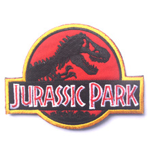 Jurassic Park jurassk  Military Army Tactical Morale Embroidery Patches For Clothes Clothing Emblem Appliques Badges
