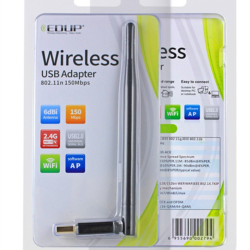 Mini PC wifi adapter 150M USB WiFi անլար - Ցանցային սարքավորումներ - Լուսանկար 4