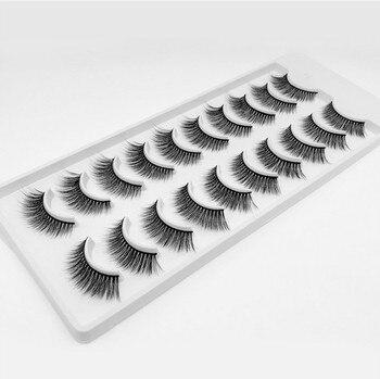 200 pairs 3D Mink Eyelashes Natural False Eyelashes Lashes Soft Fake Eyelashes Extension Makeup Wholesale Lightweight and Reusable  Handmade Natural Lashes Set