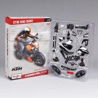 Maisto 1:12 ktm 690 duke motorcycle diecast metal model kits assemble vehicle diecast manual motorbike model 39181
