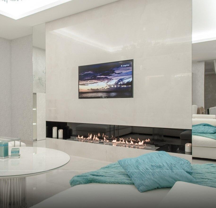 Inno-living 72 Inch  Electronic Intelligent Wifi Control Modern Fireplace Ethanol Burner