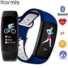ITORMIS Smart Bracelet Colors 3D dynamic Blood Pressure Heart Rate Monitor Smartband Wristband Waterproof Sports Watch Band