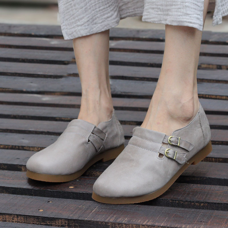 Women's Shoes 100% Genuine Leather Ladies Flat Shoes Casual Slip on Maryjane Flats Female Spring Autumn Footwear (w189-5) woman shoes flat genuine leather slip on ballerina flats ladies flat shoes spring autumn female footwear 1688 3