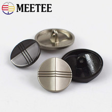 Meetee 10pcs 15/20/25mm Metal Button Alloy Decoration Shank DIY Jacket Coat Garment Sewing Supplies Accessories ZK1014