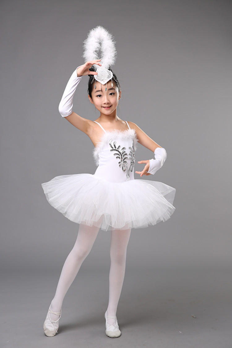 XIYAO Enfants Costume De Danse Ballet Justaucorps Jupe Gymnastique Danse Costume V/êtements pour Enfants