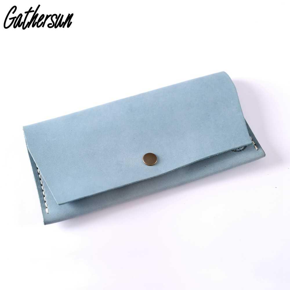 Gathersun Для женщин бумажник долго ручной работы многофункциональный из  натуральной кожи для девочек мобильный телефон 56b35166cd3b1