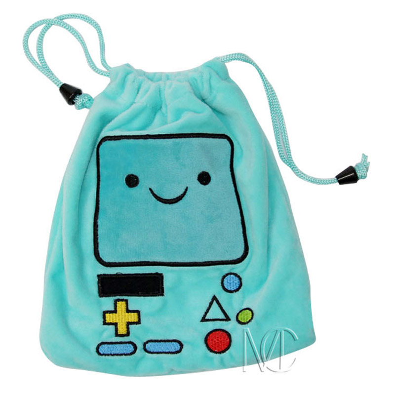 Anime/Cartoon Adventure Time with Finn and Jake BMO Jewelry/Cell Phone Drawstring Pouch/Wedding Party Gift Bag (DRAPH_9) famous caroon anime purse fullmetal alchemist yu gi oh adventure time with finn and jake assassin s creed lovely student wallet