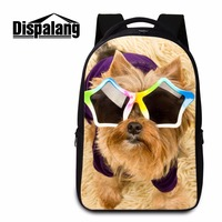 Dispalang Large Computer Laptop Backpack For School Girls Cute Dog With Sunglasses Print College Students Shoulder
