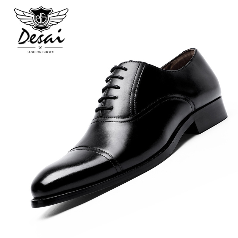DESAI Brand Top Quality Handmade Genuine Leather Shoes Men Pointed Toe Men Business Dress Shoes Oxfords Men Wedding Office ShoesDESAI Brand Top Quality Handmade Genuine Leather Shoes Men Pointed Toe Men Business Dress Shoes Oxfords Men Wedding Office Shoes