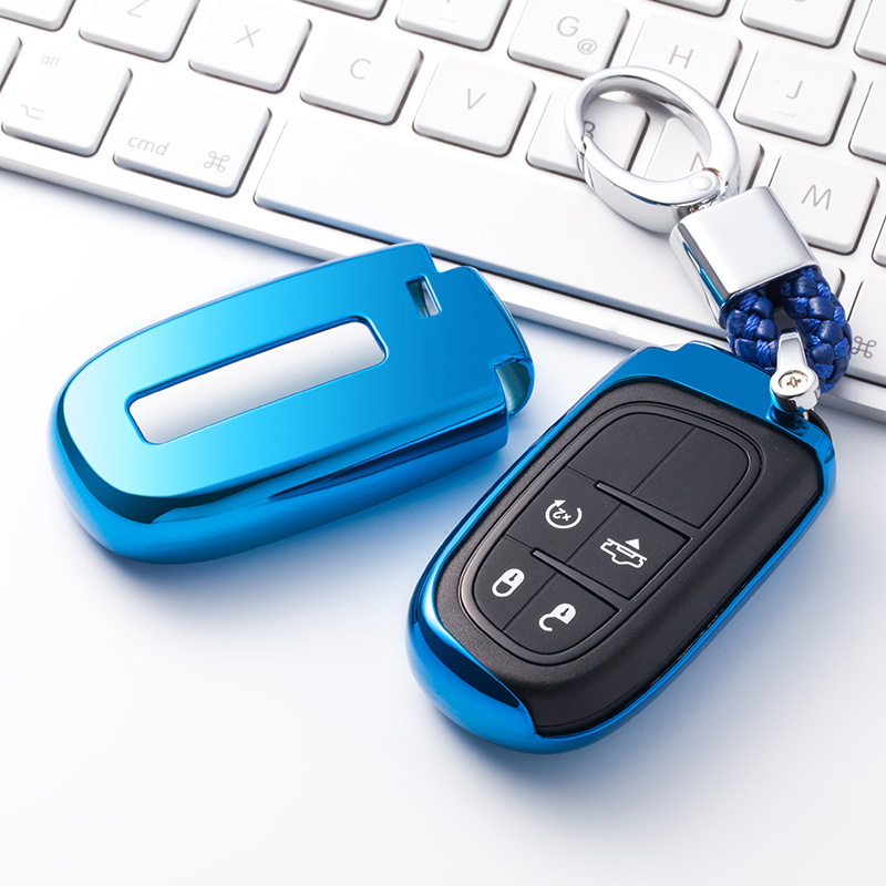 <font><b>2019</b></font> Soft TPU Key Cover Case For Dodge Journey Charger for Jeep Renegade <font><b>Grand</b></font> <font><b>Cherokee</b></font> for Chrysler 200 300 Car Key Protection image