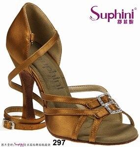 цена на Free Shipping Suphini Hot Sale Design Latin Dance Shoes Leather Sole Salsa Shoes Woman Latin Dance Shoe