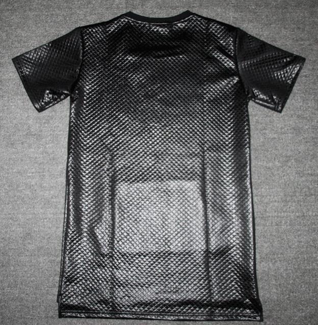 Histreet Kaviar Tyga Swag ktz a cuadros Negro nueva Manga corta Alargue larga  camiseta de Poliéster Hombre de hip hop Kanye Tee Camisa de Los Hombres en  ... 6dbba93d635