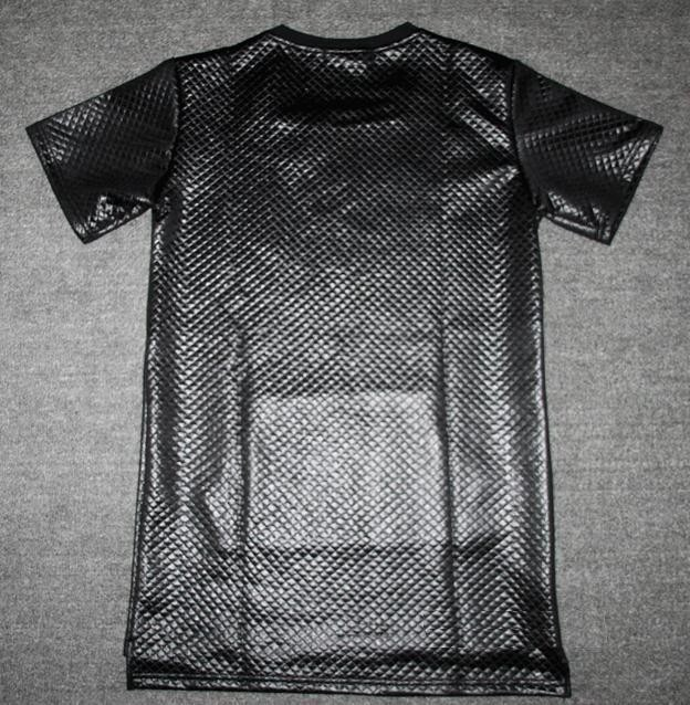 Histreet Tyga plaid Butin ktz Noir Kaviar nouvelle Manches courtes Rallongent Long t-shirt Homme Polyester hip hop Kanye T-shirt Hommes