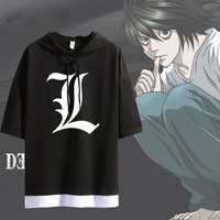 2019 Fashion T shirt Anime Death Note Cosplay Short Sleeve Hoodie Women Men Casual Hoodie Shirt Summer Patchwork Tops