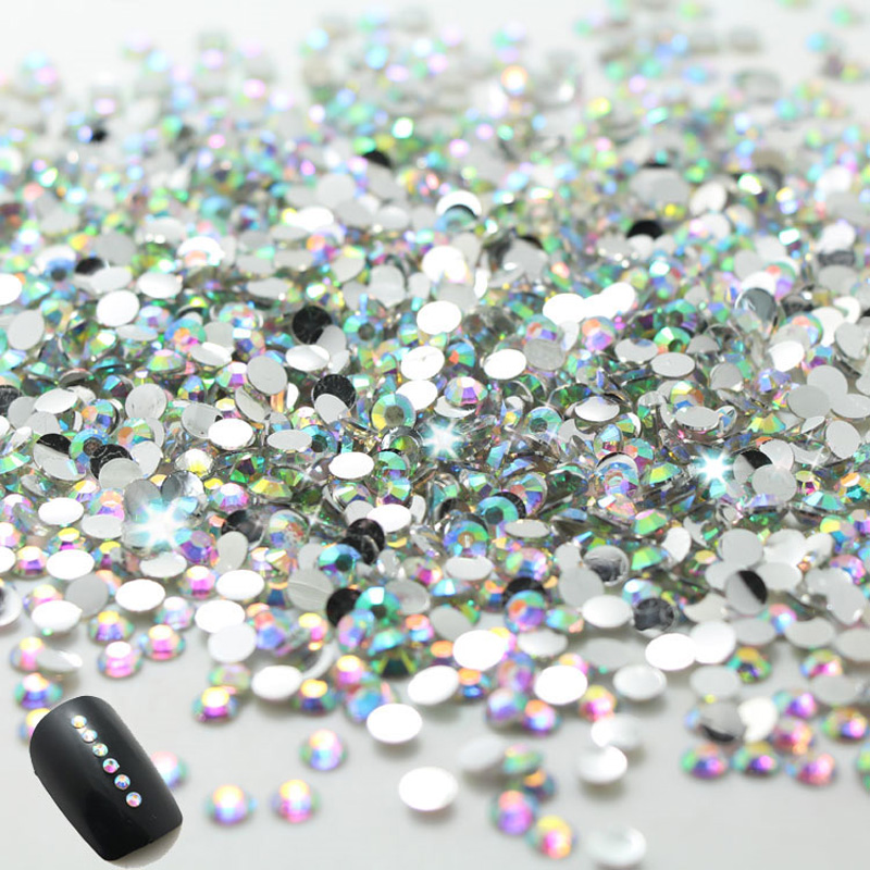 2015 New nail !2.0mm CLEAR ROUND RHINESTONES for Nail s