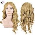 Bolihair formação profissional cabeça loira cabelo humano cabeleireiro cabeça com 100% natureza cabelo manequim cabeça com ombro