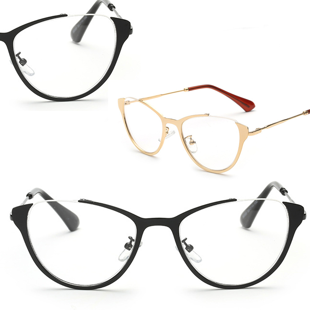 Special Decoration Cat Eye Retro IP plating GLASSE...
