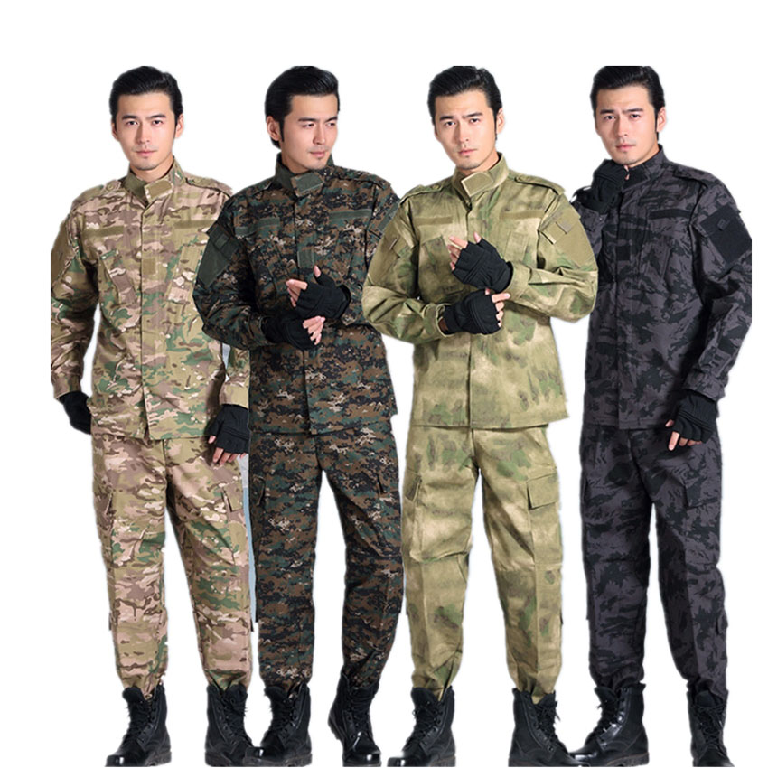 ACU Military Uniform Camouflage Suit Tactical Clothing Soldier Desert & Jungle Special Forces Combat-Proven Training Clothes