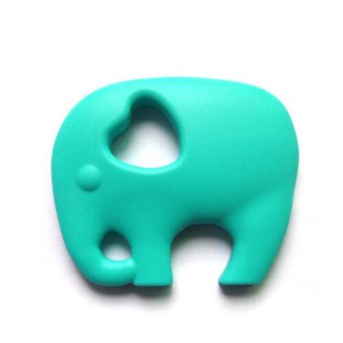 Прищепка для соски цепь силиконовый держатель пустышка Прорезыватель Соска с пищевой силиконовой соской для кормления младенцев BNZ20 - Цвет: Turquoise