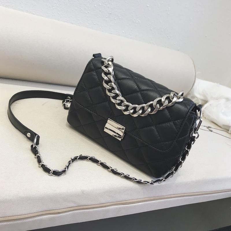 Fashion Diamond Lattice Chain Bag Flap Women Shoulder Bag Solid Crossbody High Quality PU Leather Messenger Bags louis gg bag