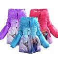 Jaqueta de inverno Para Meninas Parka moda Roupas Elsa Meninas Jaqueta Casaco Longo Inverno Crianças Jaqueta Para A Menina Snowsuit