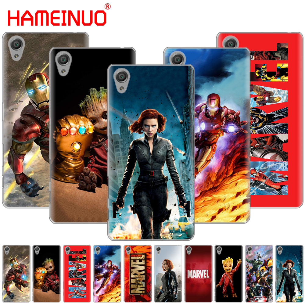HAMEINUO <font><b>Marvel</b></font> superheroes Cover <font><b>phone</b></font> <font><b>Case</b></font> for sony xperia C6 XA1 XA2 XA ULTRA X XP L1 L2 X XZ1 compact XR/XZ PREMIUM image