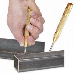 1 Pza 5 pulgadas automático Pin central punzón resorte cargado marcar herramienta de agujeros de inicio