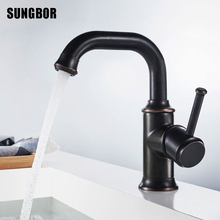 Modern Black Basin Faucet Solid Brass Single Hole Single Holder Wall Mounted Bathroom Faucet Hot And Cold Good Quality AL-7121H quality cu59 brass kitchen faucet hot and cold single hole 700g