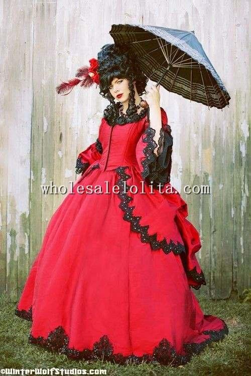 Scarlett Marie Antoinette Fantasy Gown Gothic Victorian Steampunk ...