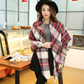 Top quality Winter oversize plaid new designer blanket Acrylic Pashmina Shawls burderry wrap Women's Scarves YOUNGER STORE YG001