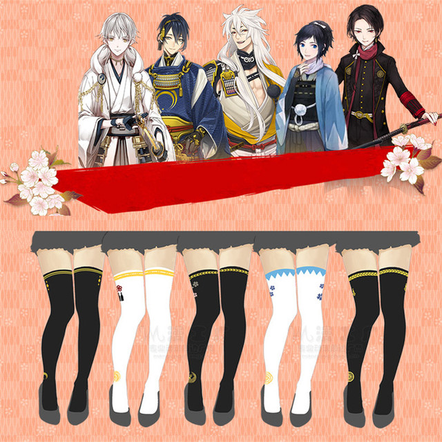 92583f7e985 Online Game The Sword Dance Touken Ranbu Thigh High Tight Pantyhose Stocking